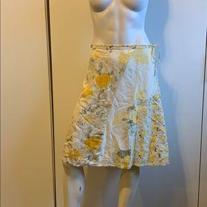 Banana Republic A-Line SILK skirt floral Knee